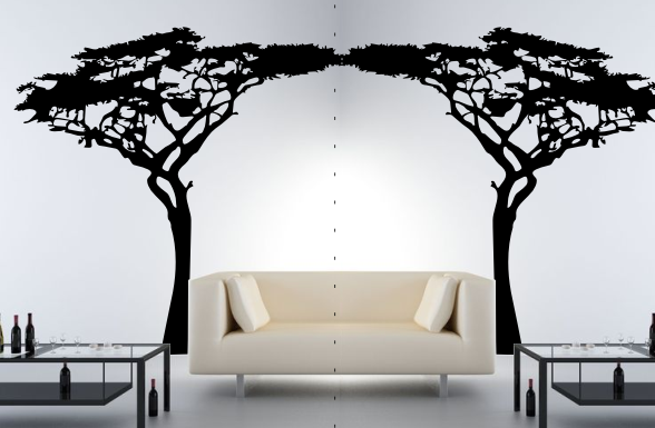 wandtattoo afrikanischer akazien baum wandtattoo afrika. Black Bedroom Furniture Sets. Home Design Ideas