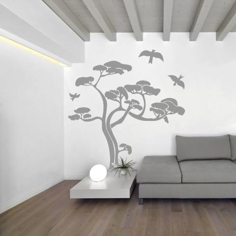 wandtattoo exotischer baum. Black Bedroom Furniture Sets. Home Design Ideas