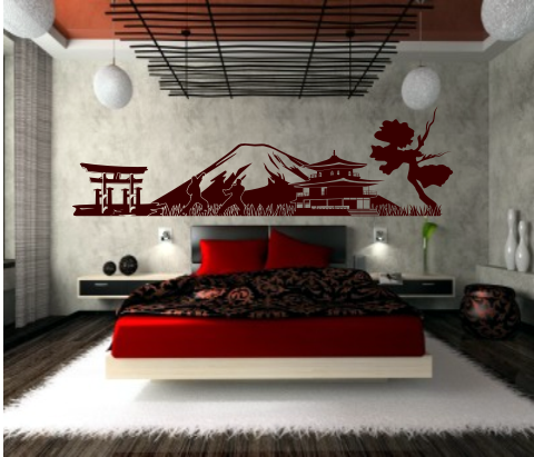 wandtattoo japan panorama art nr 3zcs53 lieferzeit ca 3 4 werktage ...