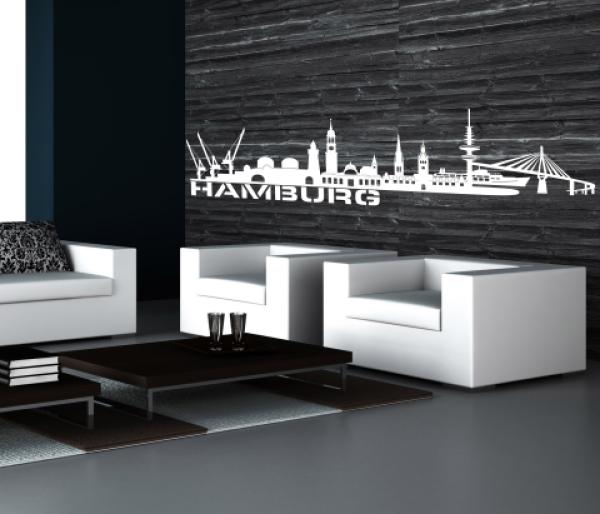 wandtattoo hamburg skyline. Black Bedroom Furniture Sets. Home Design Ideas