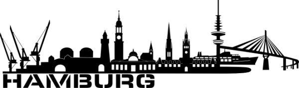 Dekortattoo.de - Wandtattoo Hamburg Skyline