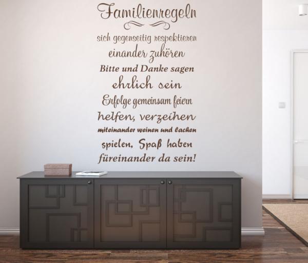 Startseite » Wandsprüche und Zitate » Wandtattoo Familienregeln ...