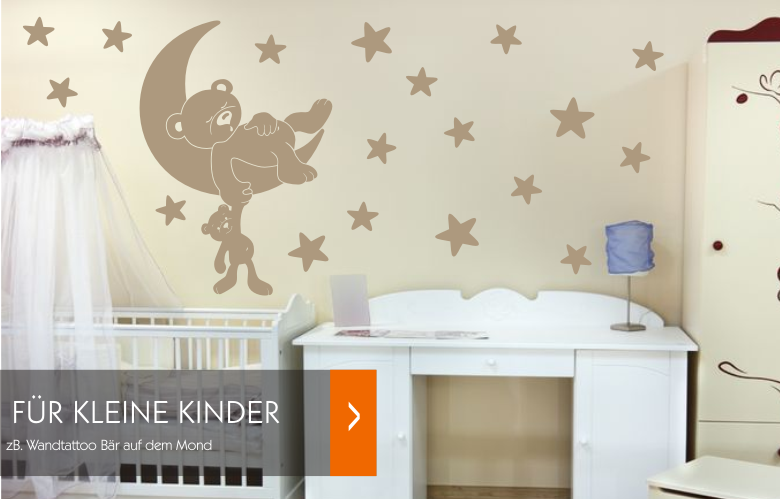 pin baby wandtattoo babyzimmer deko bei wandtattoosde on. Black Bedroom Furniture Sets. Home Design Ideas