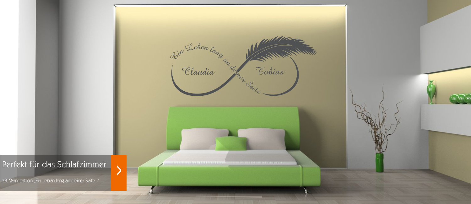 wandtattoos wandspr che wandaufkleber mit gratis probewandtattoo. Black Bedroom Furniture Sets. Home Design Ideas