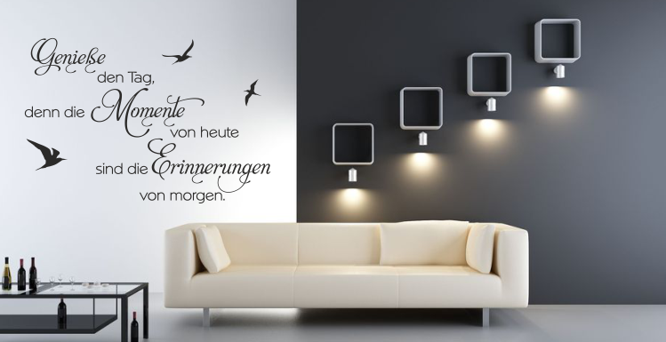 wandspr che wandtattoo spr che wandtattoo zitate spr che zitate. Black Bedroom Furniture Sets. Home Design Ideas