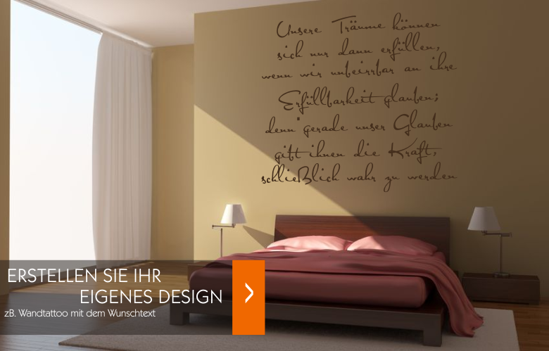 wandtattoo text selbst gestalten reuniecollegenoetsele. Black Bedroom Furniture Sets. Home Design Ideas