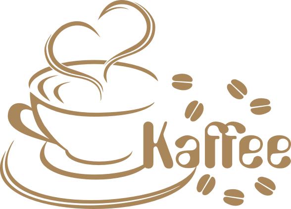 Wandtattoo Kaffeetasse mit Herz