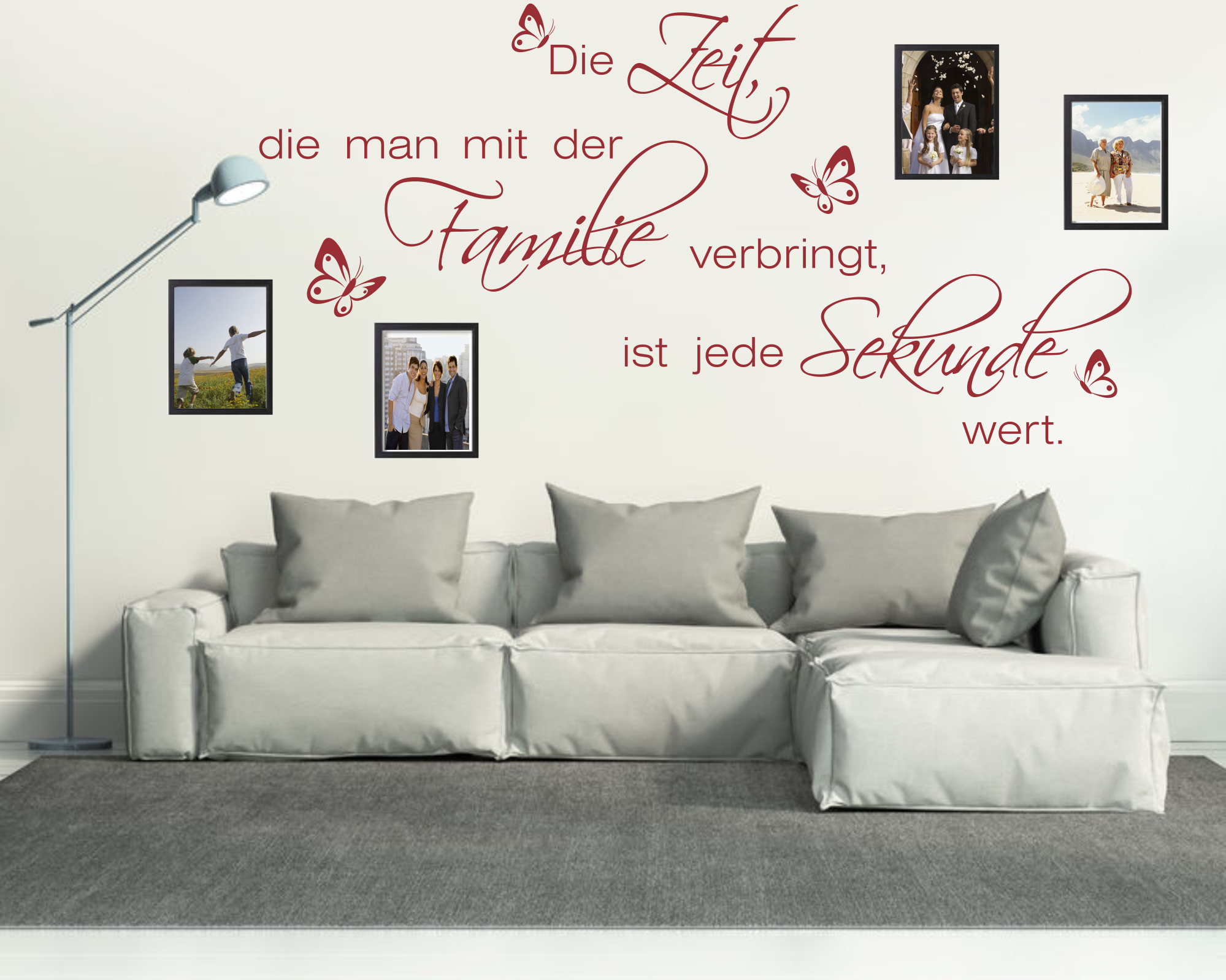 wandtattoos wandspr che wanddeko wandtattoo die zeit die man mit der. Black Bedroom Furniture Sets. Home Design Ideas