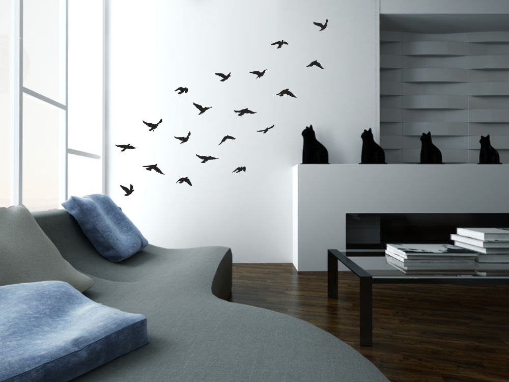 wandtattoos wandspr che wanddeko wandtattoo set v gel. Black Bedroom Furniture Sets. Home Design Ideas