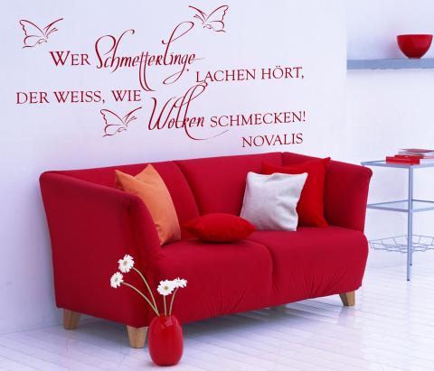 Dekortattoo De Wandtattoos Wandspruche Wanddeko Wandspruch Wer Schmetterlinge Lachen Hort Novalis