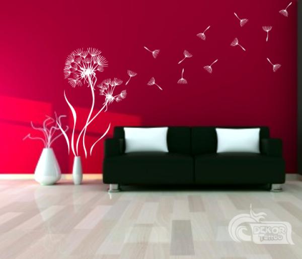 wandtattoos wandspr che wanddeko wandtattoo pusteblume 3. Black Bedroom Furniture Sets. Home Design Ideas
