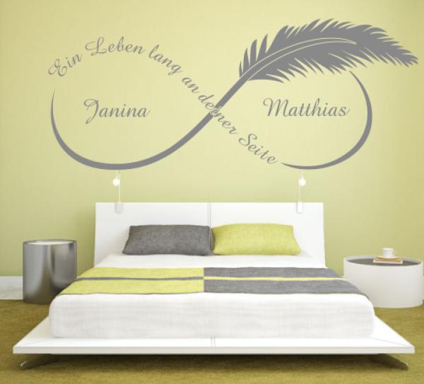 wandtattoos wandspr che wanddeko wandtattoo ein leben lang an mit. Black Bedroom Furniture Sets. Home Design Ideas