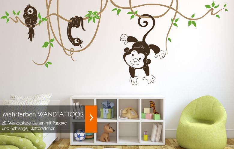 wandtattoos wandspr che wanddeko 2 farben wandtattoo bunte wandtattoos. Black Bedroom Furniture Sets. Home Design Ideas